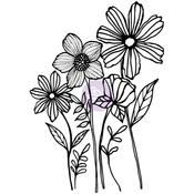 Joyful Garden - Christine Adolf Cling Rubber Stamps