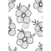 Tossed Floral - Christine Adolf Cling Rubber Stamps