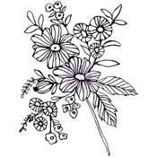 Cheerful Bloom - Christine Adolf Cling Rubber Stamps