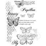 """Gabi's Butterflies Are Free - 49 & Market Clear Stamps 4""""X6"""""""