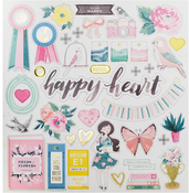 Chasing Dreams Gold Foil Chipboard Stickers - Crate Paper
