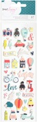 Lovely Day Puffy Stickers - Dear Lizzy