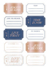Lovely Day Gold Foil Accent Roll Tags - Dear Lizzy
