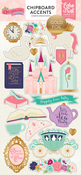 Once Upon A Time Princess Foiled Chipboard Pieces - Echo Park