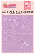 Fairytale Words Embossing Folder - Echo Park