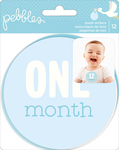 Lullaby Baby Boy Monthly Stickers - Pebbles