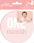 Lullaby Baby Girl Monthly Stickers - Pebbles