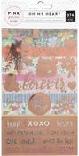 Oh My Heart Rose Gold Foil Sticker Book - Pink Paislee