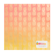 On A Whim Ombre Foil 12x12 Paper - Amy Tangerine