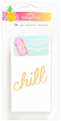 On A Whim Water Color, Gold Foil Resist Tags - Amy Tangerine