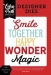 Smile Together Die Set - Magic & Wonder - Echo Park