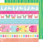 Bonny Bunny 12x12 Paper - Hello Spring - American Crafts