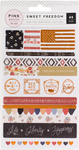 Sweet Freedom Copper Foil Washi Shapes - Pink Paislee