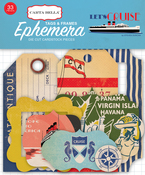 Frames & Tags Ephemera - Let's Cruise - Carta Bella