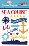 Enamel Shapes - Let's Cruise - Carta Bella