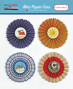 Mini Paper Fans - Let's Cruise - Carta Bella