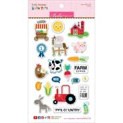 Icons - Barnyard Puffy Stickers