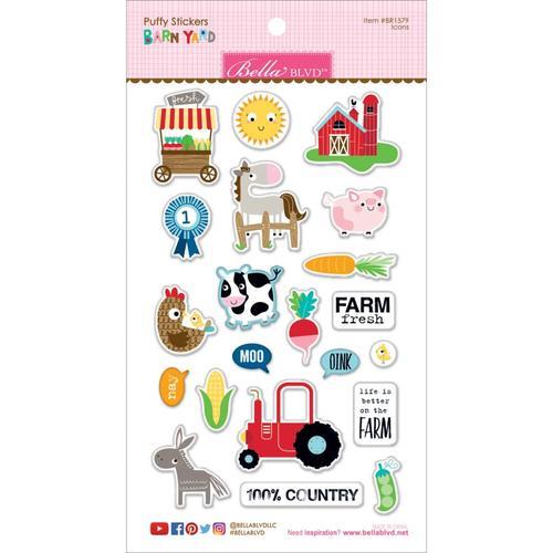 Barnyard Icon Puffy Stickers - Bella Blvd