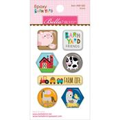 Barnyard Icons Epoxy Stickers - Bella Blvd