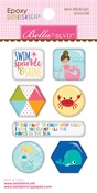 Icons - Secrets Of The Sea - Girl Epoxy Stickers