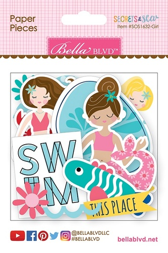 Secrets Of The Sea Girl Paper Pieces - Bella Blvd