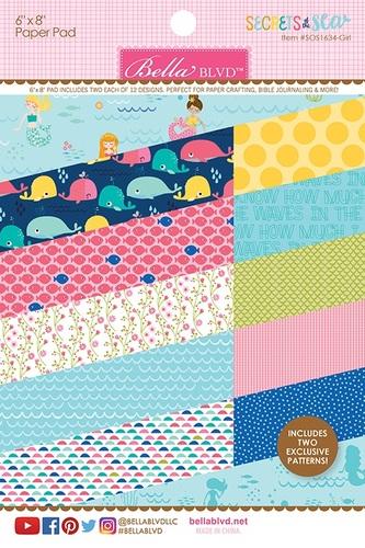 Secrets Of The Sea Girl Paper Pad - Bella Blvd