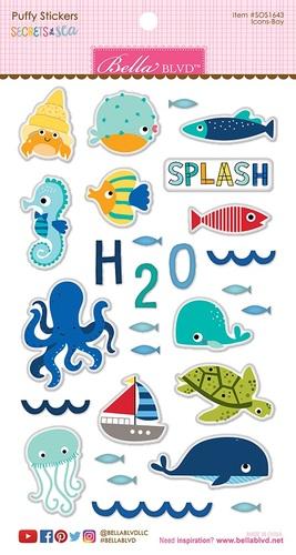 Secrets Of The Sea Boy Puffy Stickers - Bella Blvd