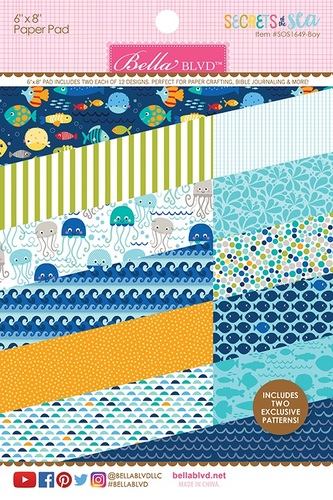 Secrets Of The Sea Boy Paper Pad - Bella Blvd