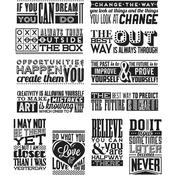 "Mini Motivation Tim Holtz Cling Stamps 7""X8.5"""