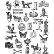 """Tiny Things 2 Tim Holtz Cling Stamps 7""""X8.5"""""""