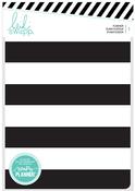Black & White Stripe Personal Planner - Heidi Swapp