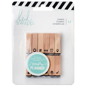 Wooden Stamp Icons - Heidi Swapp Memory Planner