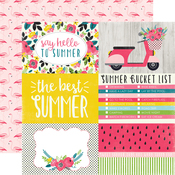 4X6 Journaling Cards Paper - Summer Fun - Echo Park