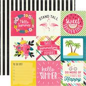 4X4 Journaling Cards Paper - Summer Fun - Echo Park