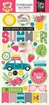 Summer Fun Chipboard Pieces - Echo Park