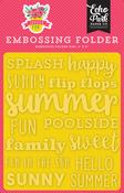 Sunny Summer Embossing Folder - Summer Fun - Echo Park