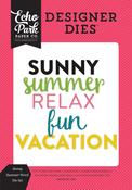 Sunny Summer Word Die Set - Summer Fun - Echo Park