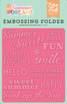 Summer Is Sweet Embossing Folder - Summer Dreams - Echo Park