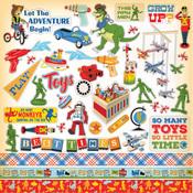 Toy Box Sticker Sheet - Carta Bella