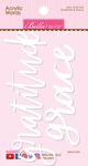 Gratitude & Grace - Acrylic White Script Words
