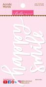 Happy & Smile Acrylic Words - Bella Blvd