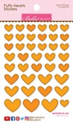 Orange Mix Puffy Hearts Stickers - Bella Blvd