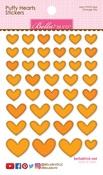 Orange Mix - Puffy Heart Stickers
