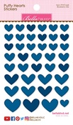 Blueberry Mix Puffy Hearts Stickers - Bella Blvd