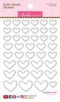 Milk White Mix Puffy Hearts Stickers - Bella Blvd