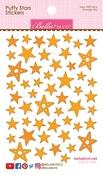Orange Mix - Puffy Star Stickers
