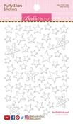 Milk White - Puffy Star Stickers