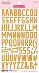 Orange Wonky Alpha Stickers - Bella Blvd