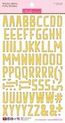 Bell Pepper Wonky Alpha Stickers - Bella Blvd