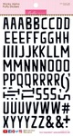 Oreo Black Wonky Alpha Stickers - Bella Blvd